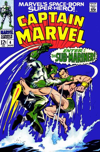 Cover for Marvel's Space-Born Superhero! Captain Marvel (Marvel, 1968 series) #4