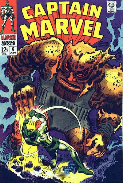 Cover for Marvel's Space-Born Superhero! Captain Marvel (1968 series) #6