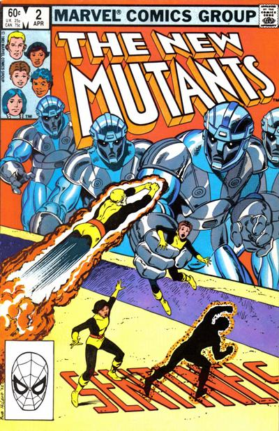 Cover for The New Mutants (Marvel, 1983 series) #2 [Direct Edition]