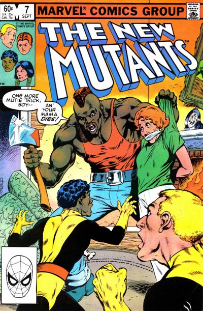 Cover for The New Mutants (Marvel, 1983 series) #7 [Direct Edition]