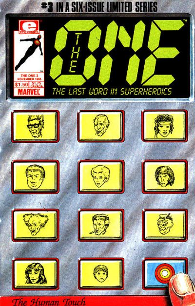 Cover for The One (Marvel, 1985 series) #3
