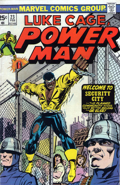 Cover for Power Man (Marvel, 1974 series) #23 [British price variant.]