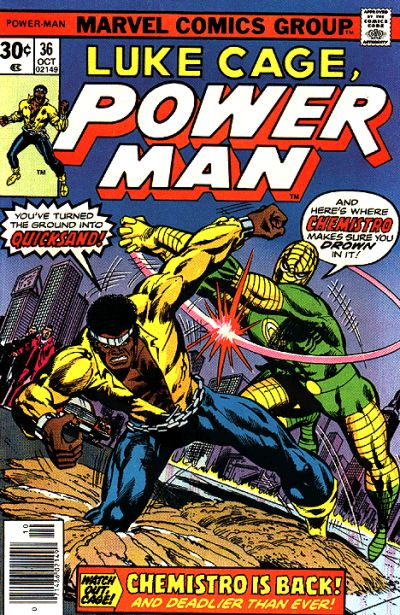 Cover for Power Man (Marvel, 1974 series) #36