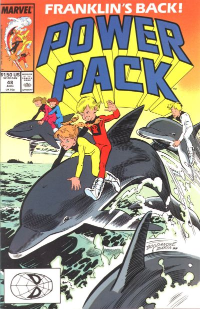 Cover for Power Pack (Marvel, 1984 series) #48