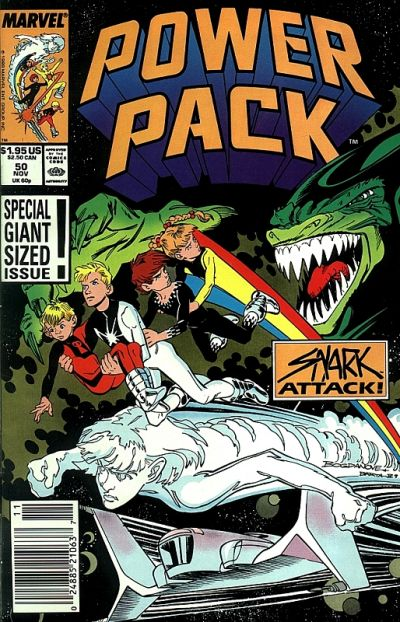 Cover for Power Pack (Marvel, 1984 series) #50 [Direct Edition]