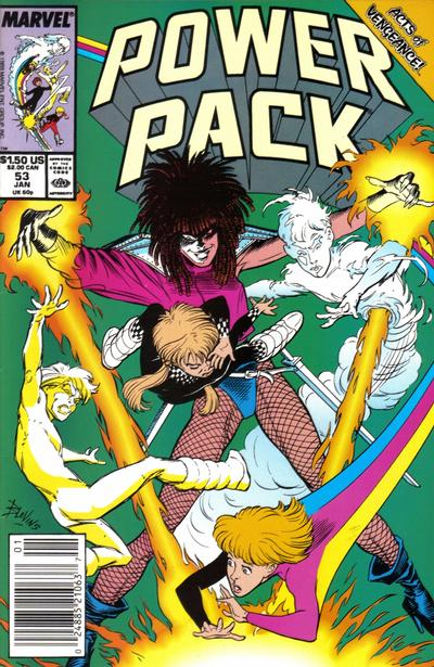 Cover for Power Pack (Marvel, 1984 series) #53