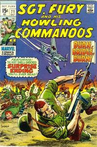 Cover Thumbnail for Sgt. Fury (Marvel, 1963 series) #71