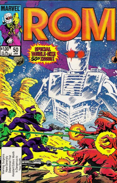 Cover for ROM (Marvel, 1979 series) #50 [Direct Edition]