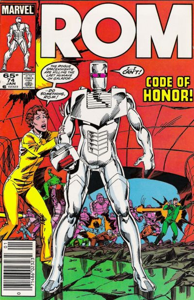 Cover for ROM (Marvel, 1979 series) #74 [Newsstand Edition]
