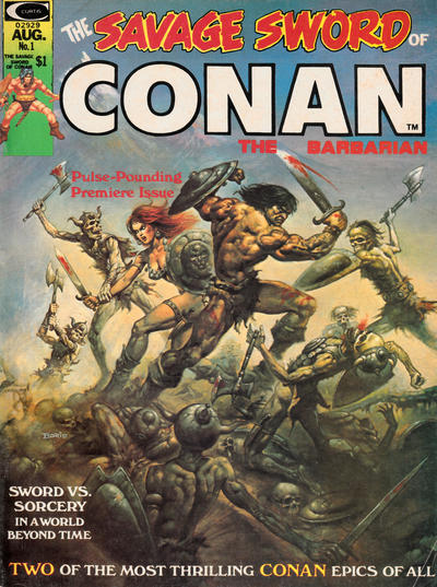 Cover for The Savage Sword of Conan (1974 series) #1