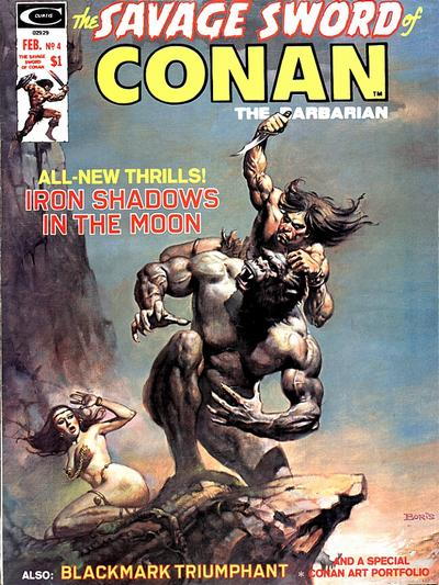 Cover for The Savage Sword of Conan (1974 series) #4
