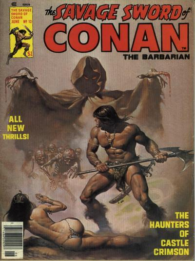 Cover for The Savage Sword of Conan (Marvel, 1974 series) #12