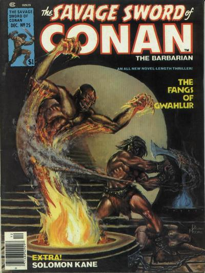Cover for The Savage Sword of Conan (1974 series) #25