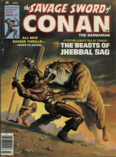 Cover for The Savage Sword of Conan (Marvel, 1974 series) #27