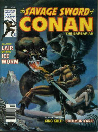 Cover for The Savage Sword of Conan (1974 series) #34
