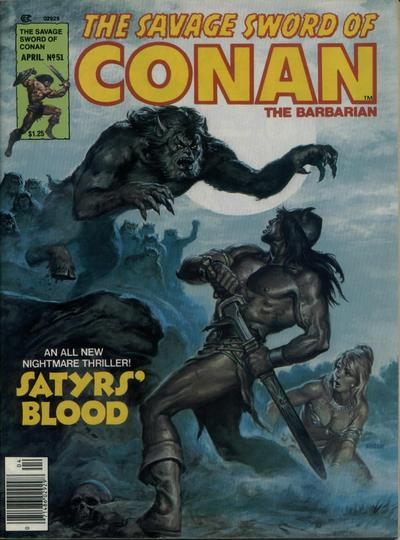 Cover for The Savage Sword of Conan (Marvel, 1974 series) #51