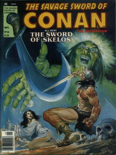 Cover for The Savage Sword of Conan (Marvel, 1974 series) #56