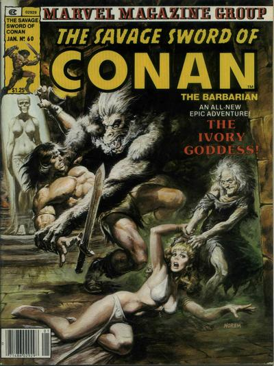Cover for The Savage Sword of Conan (Marvel, 1974 series) #60