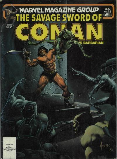 Cover for The Savage Sword of Conan (Marvel, 1974 series) #72