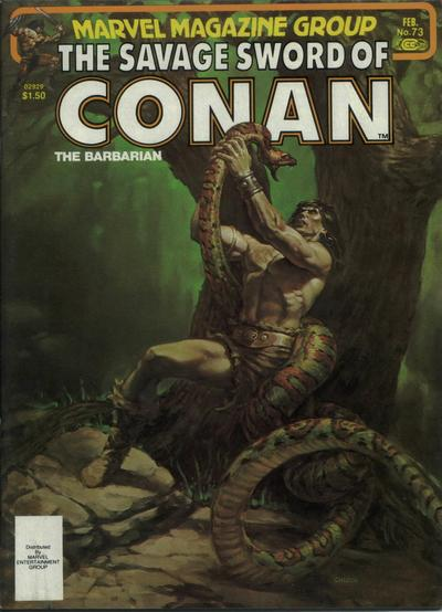 Cover for The Savage Sword of Conan (Marvel, 1974 series) #73