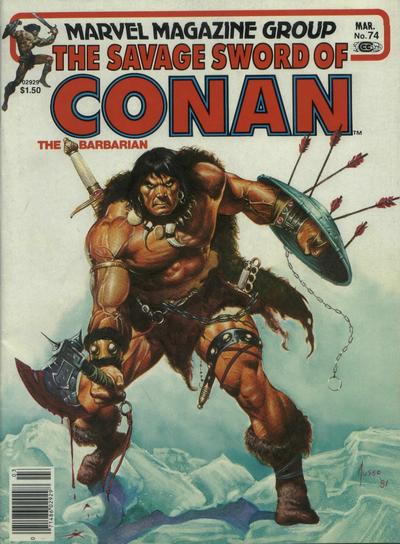 Cover for The Savage Sword of Conan (Marvel, 1974 series) #74