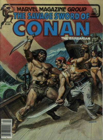 Cover for The Savage Sword of Conan (Marvel, 1974 series) #75