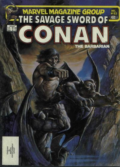Cover for The Savage Sword of Conan (Marvel, 1974 series) #83