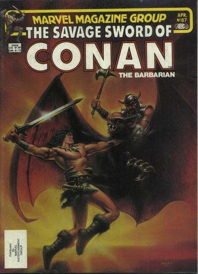 Cover for The Savage Sword of Conan (Marvel, 1974 series) #87