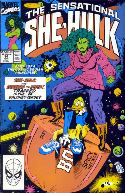 Cover for The Sensational She-Hulk (Marvel, 1989 series) #14
