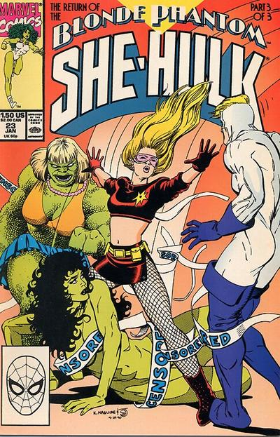 Cover for The Sensational She-Hulk (Marvel, 1989 series) #23