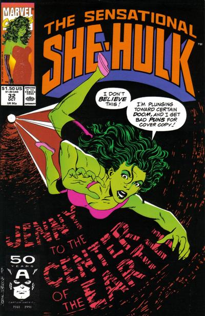 Cover for The Sensational She-Hulk (Marvel, 1989 series) #32
