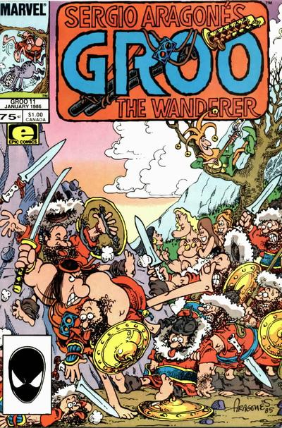 Cover for Sergio Aragonés Groo the Wanderer (1985 series) #11 [Newsstand Edition]