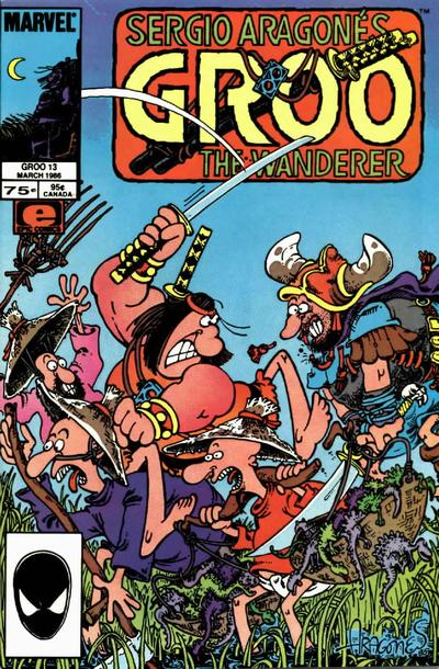 Cover for Sergio Aragonés Groo the Wanderer (Marvel, 1985 series) #13 [Newsstand]