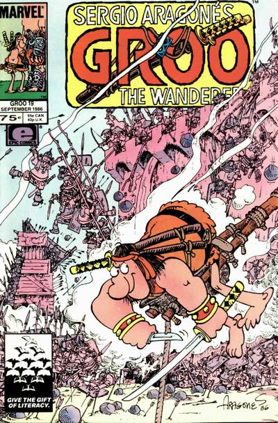 Cover for Sergio Aragonés Groo the Wanderer (Marvel, 1985 series) #19 [Direct]