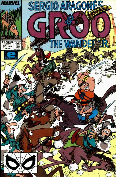 Cover for Sergio Aragonés Groo the Wanderer (Marvel, 1985 series) #61
