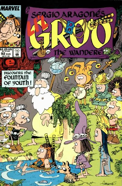Cover for Sergio Aragonés Groo the Wanderer (Marvel, 1985 series) #92