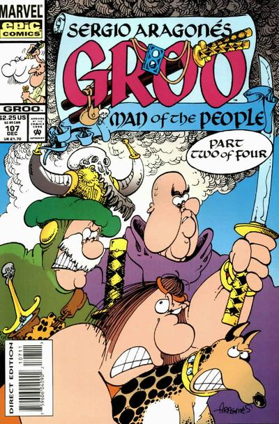 Cover for Sergio Aragonés Groo the Wanderer (Marvel, 1985 series) #107