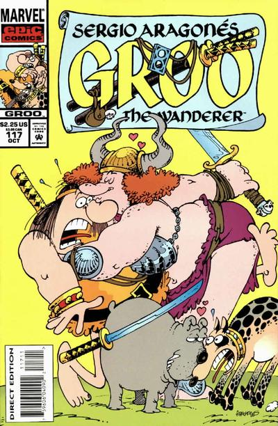 Cover for Sergio Aragonés Groo the Wanderer (Marvel, 1985 series) #117