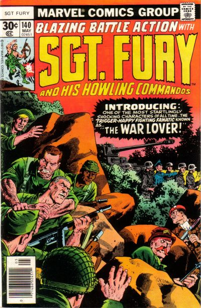 Cover for Sgt. Fury and His Howling Commandos (Marvel, 1974 series) #140