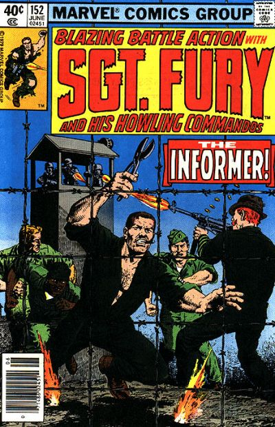 Cover for Sgt. Fury and His Howling Commandos (Marvel, 1974 series) #152