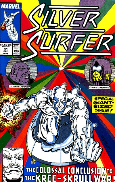 Cover for Silver Surfer (1987 series) #31 [Direct Edition]