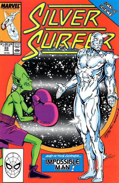 Cover for Silver Surfer (1987 series) #33 [J. C. Penney Variant]