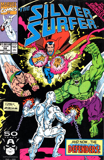 Cover for Silver Surfer (Marvel, 1987 series) #58
