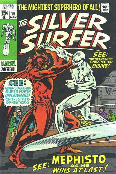Cover for The Silver Surfer (1968 series) #16