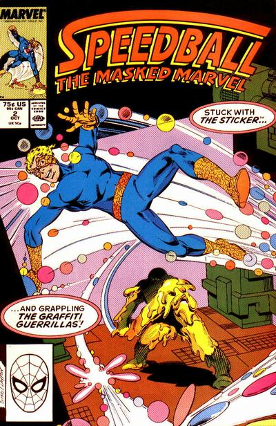 Cover for Speedball (Marvel, 1988 series) #2 [Newsstand]