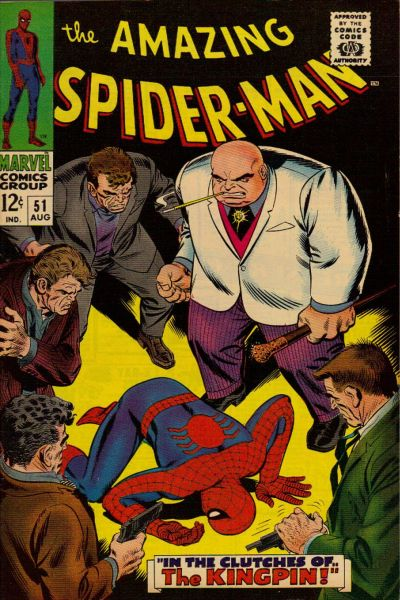 Cover for The Amazing Spider-Man (Marvel, 1963 series) #51 [UK price variant]