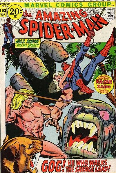 Cover for The Amazing Spider-Man (1963 series) #103