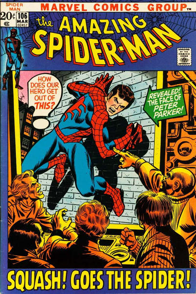 Cover for The Amazing Spider-Man (Marvel, 1963 series) #106