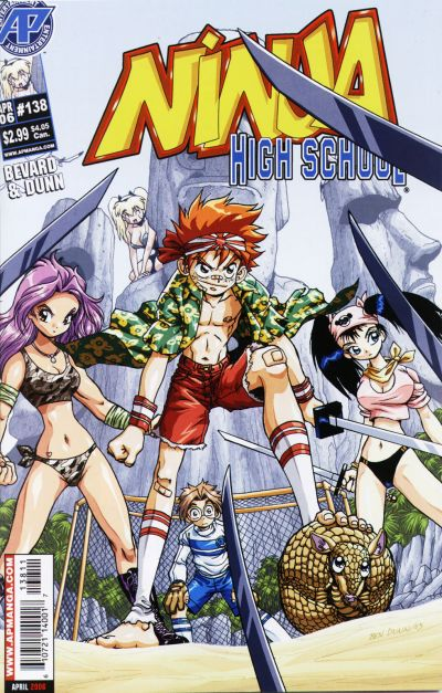 Cover for Ninja High School (Antarctic Press, 1994 series) #138