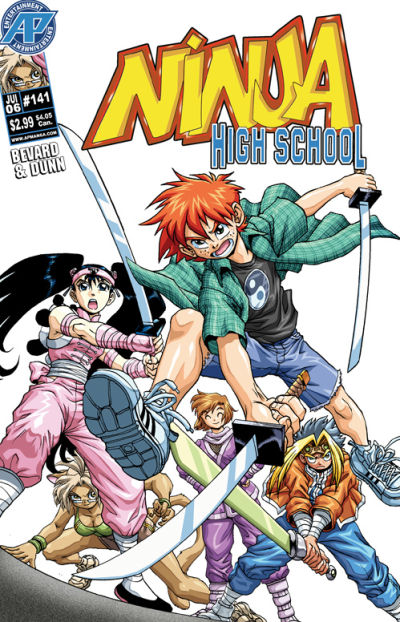 Cover for Ninja High School (Antarctic Press, 1994 series) #141
